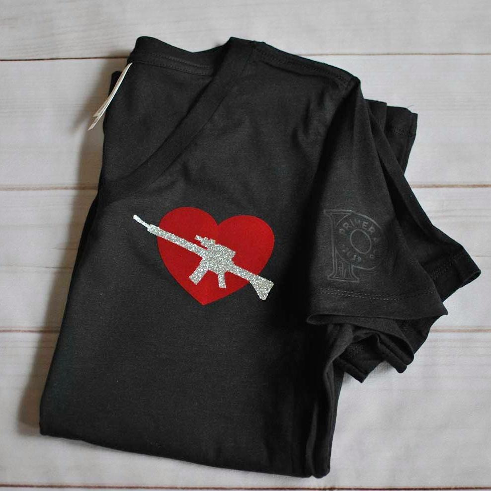 Women's Curvy V Neck Tee - Modern Cupid