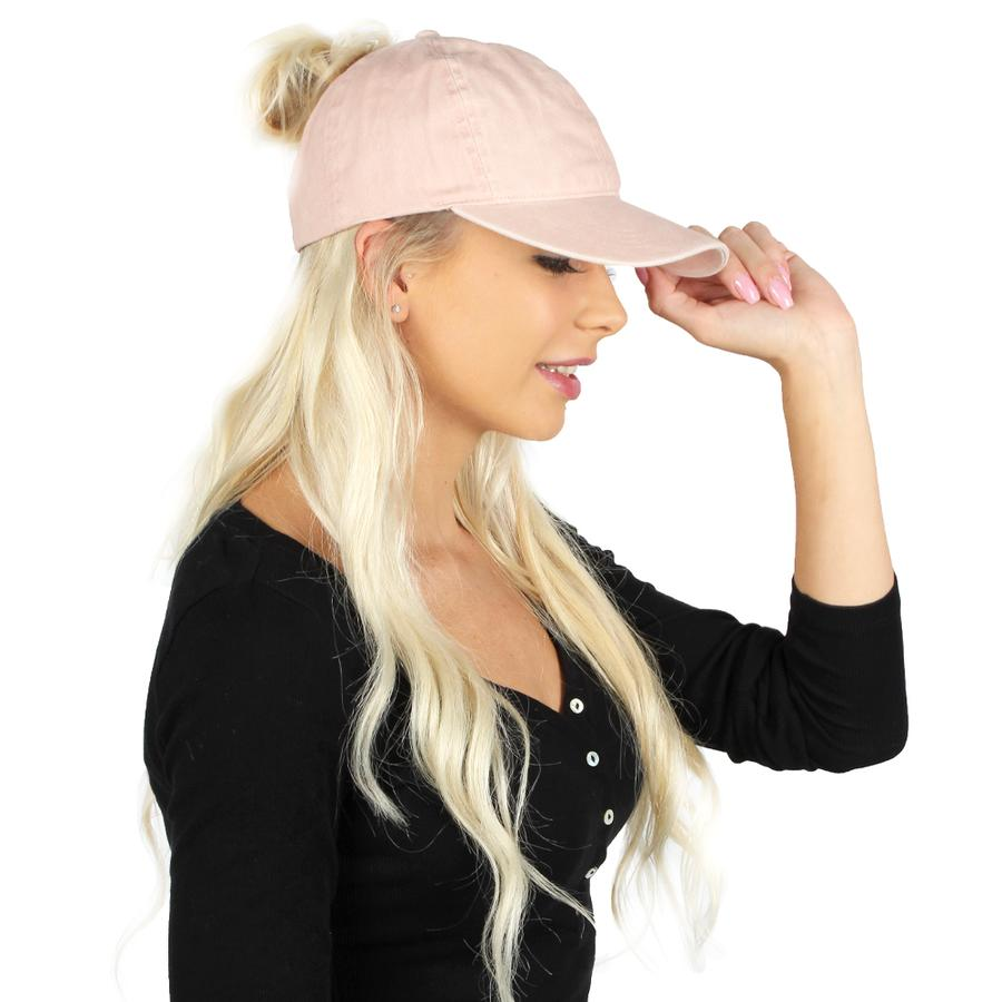 Ponytail Hat- Dusty Rose