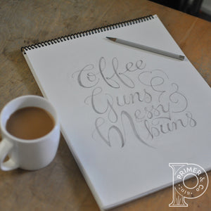 Women's hoodie- Coffee, Guns, & Messy Buns