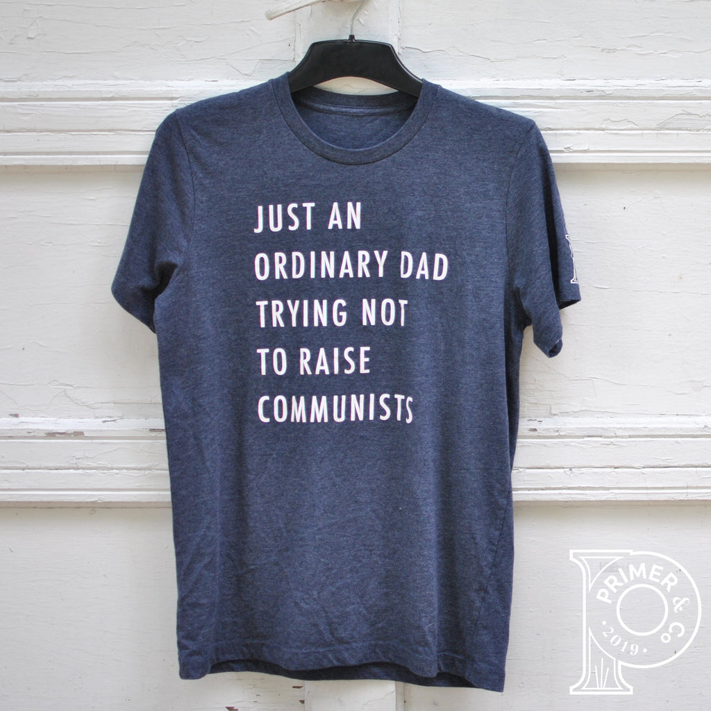 Just an Ordinary Dad Trying Not to Raise Communists tshirt