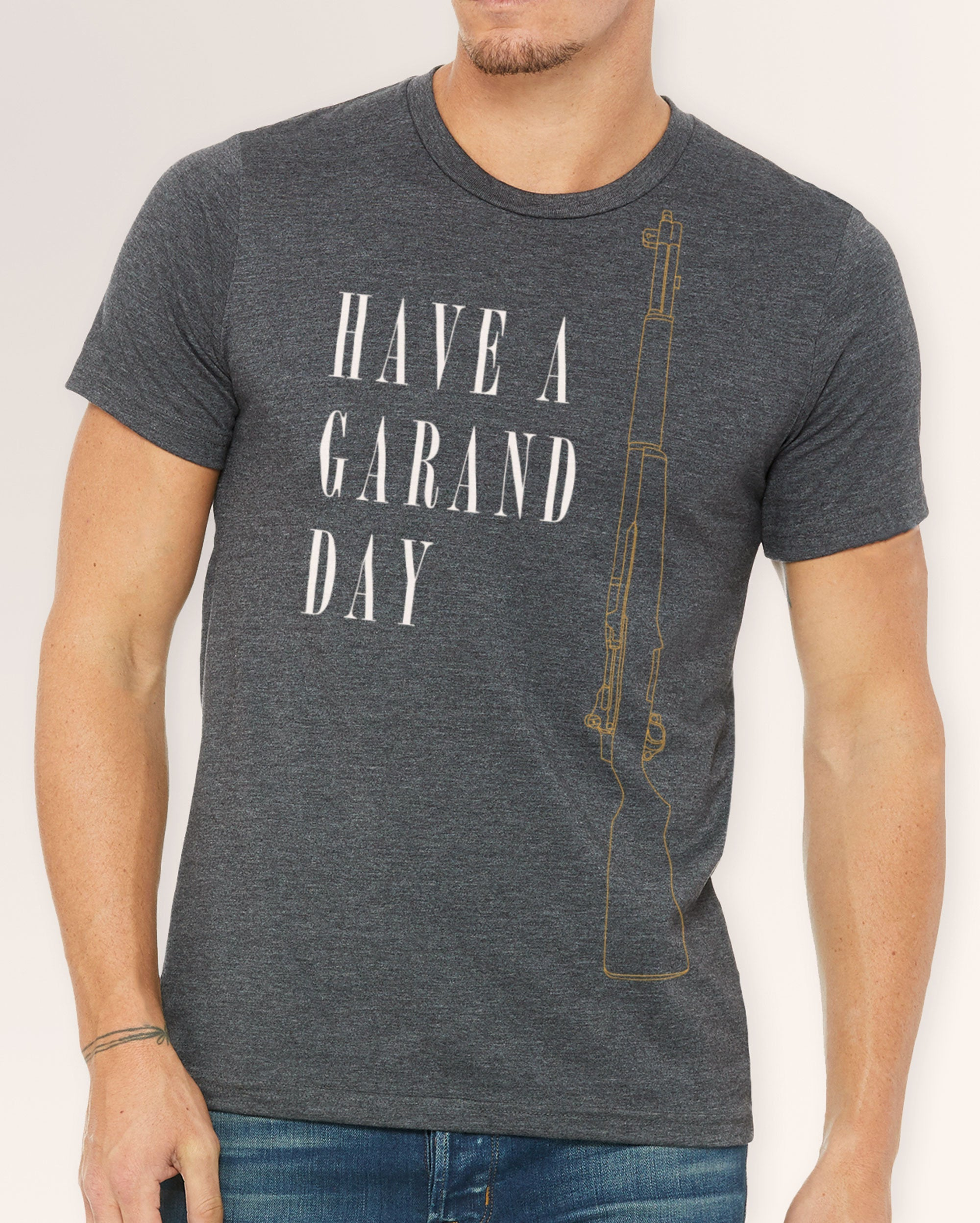 Men's Crew Neck Tee - Have a Garand Day