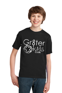 Gr8ter Kids Club White Logo Port & Company® - Youth Essential Tee