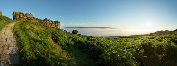 The Cow and Calf rocks on Ilkley Moor, West Yorkshire 2.