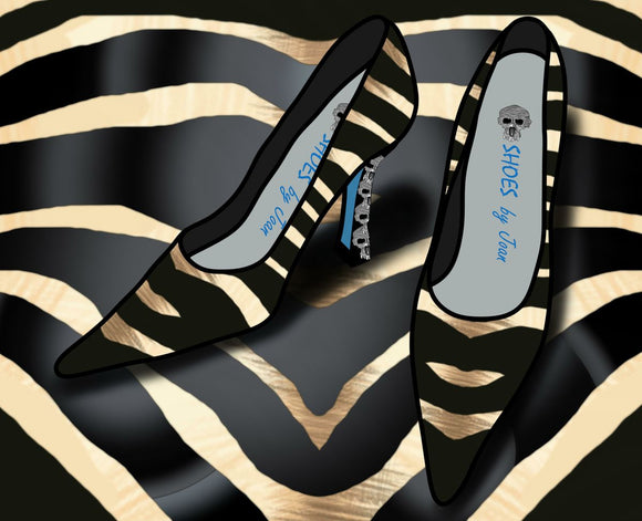 Shoes by Joan - Zebra Pattern Pumps