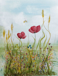 Poppies and wheat field