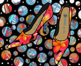 Shoes by Joan - Frangipani Pattern Pumps