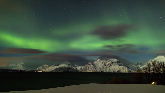 Northern Lights Dancing over the Lyngen Alps