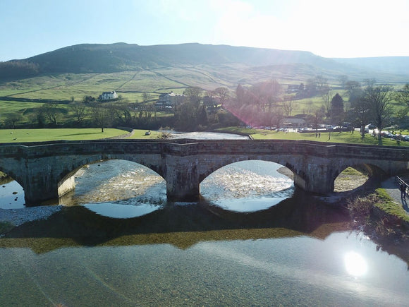 Sun Shines Over Burnsall Bridge - Yorkshire