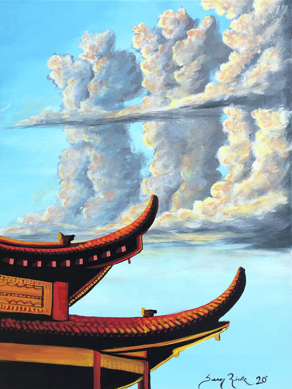 Pagoda And Clouds