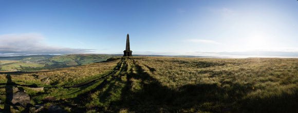 Stoodley Pike monument on Langfield Common, above Todmorden in Calderdale