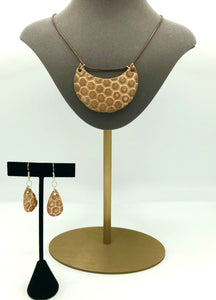 Honeycomb Necklace/Earring Set