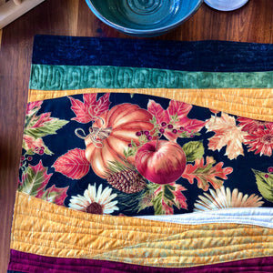 Quilted Fall Placemats, Set of 4