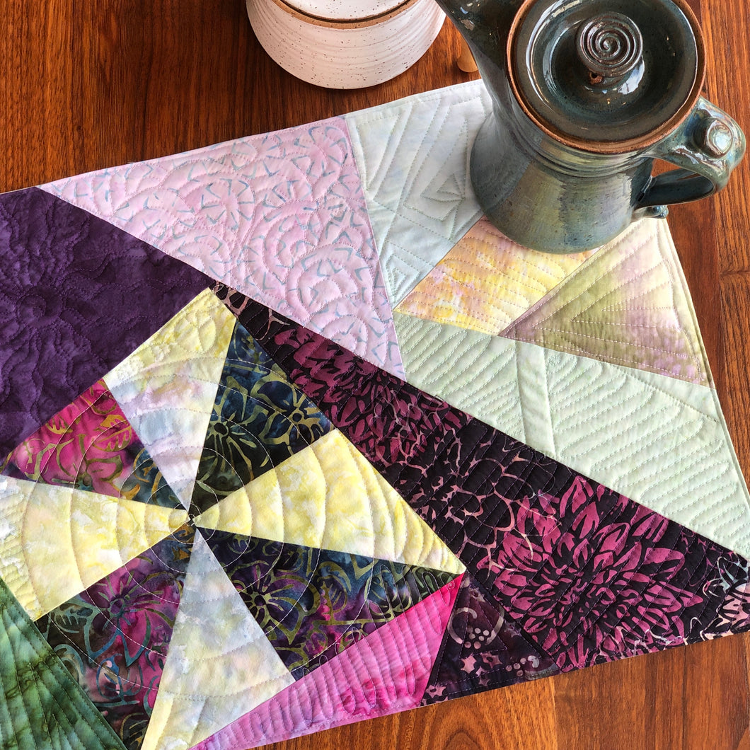 Quilted Batik Placemats, Set of 4