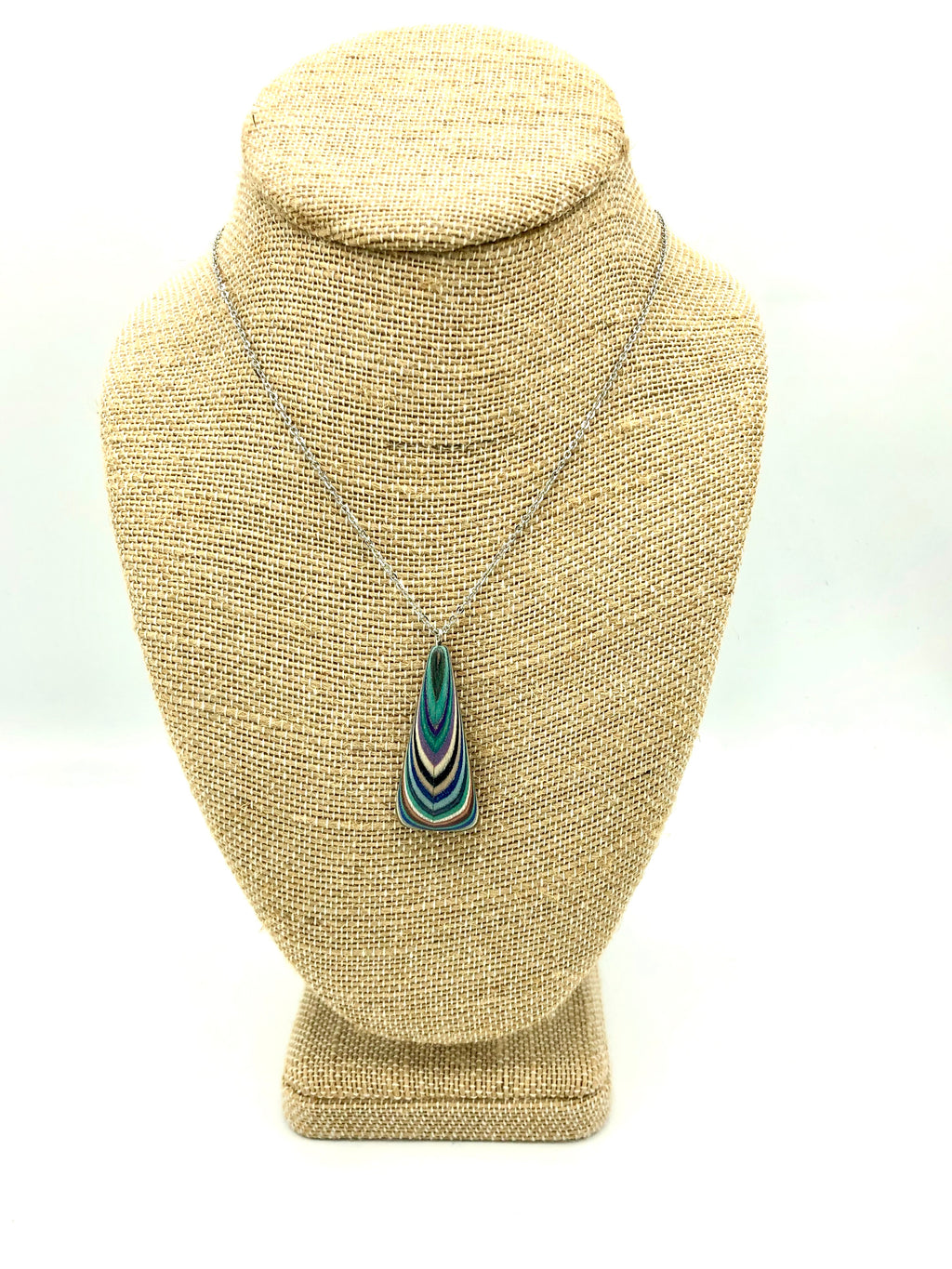 Featherwood Triangle Drop Necklace