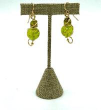Load image into Gallery viewer, Green Murano Glass Earrings