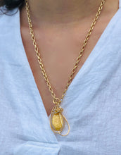 Load image into Gallery viewer, Gold Murano Glass Pendant Necklace