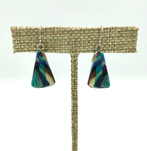 Load image into Gallery viewer, Featherwood Mosaic Triangle Earrings