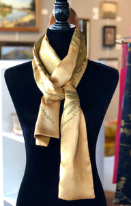 Gold-On-Gold Silk Scarf