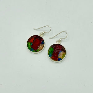 Mosaic Earrings - Round