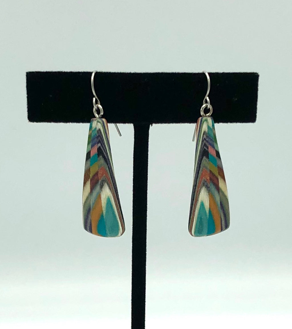 Featherwood Large Triangle Earrings