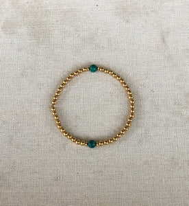 Bead Bracelet with Semi-Precious Stones