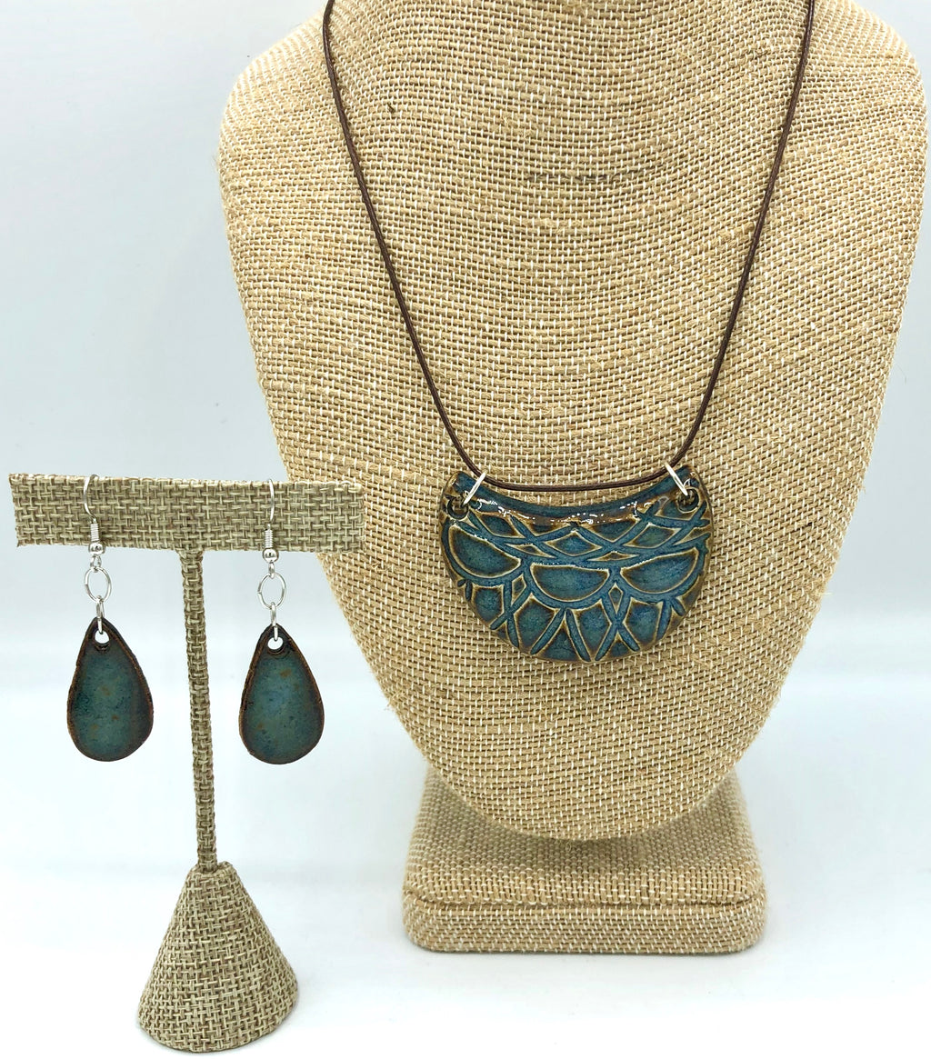 Indigo Necklace/Earring Set