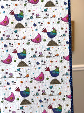 "Load image into Gallery viewer, Quilt, ""Pecking Order"" SOLD"