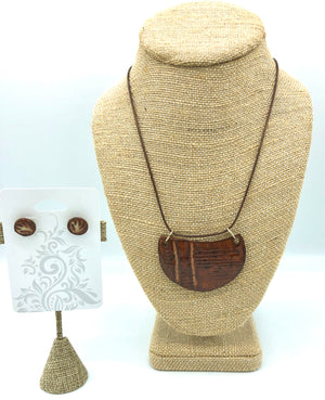 Copper Brown Necklace/Earring Set