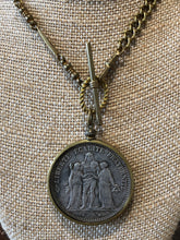 Load image into Gallery viewer, Vintage French Coin Necklace