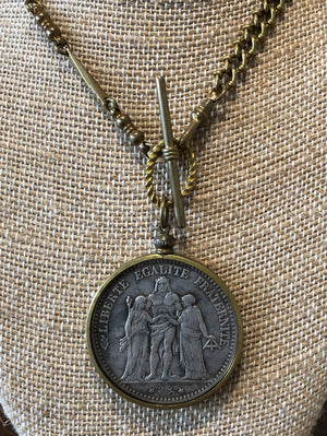 Vintage French Coin Necklace