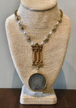 Load image into Gallery viewer, Circa 1913 Swiss coin on antique chain