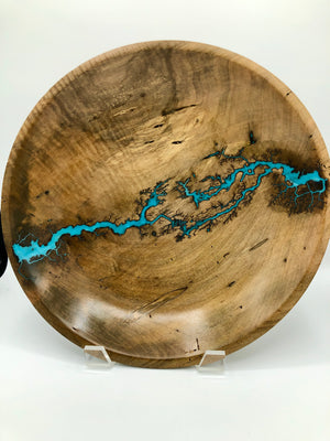 TB Large Turned Maple Bowl