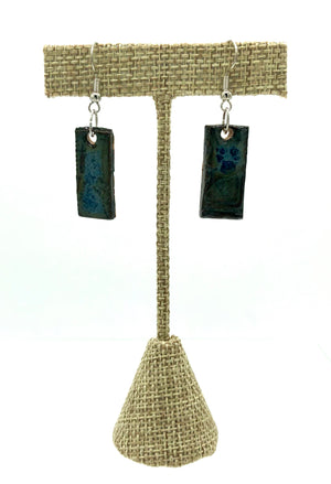 Indigo Rectangle Earrings