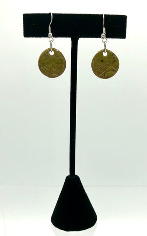 Olive Disc Earrings