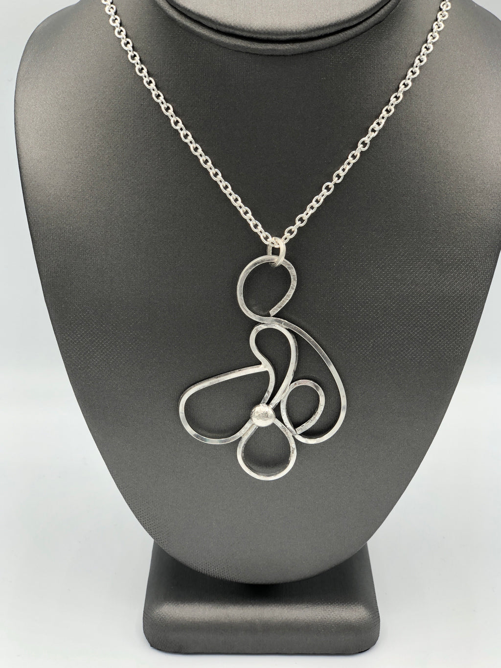 "McRose Rm6 24"" Sterling Freeform Necklace"