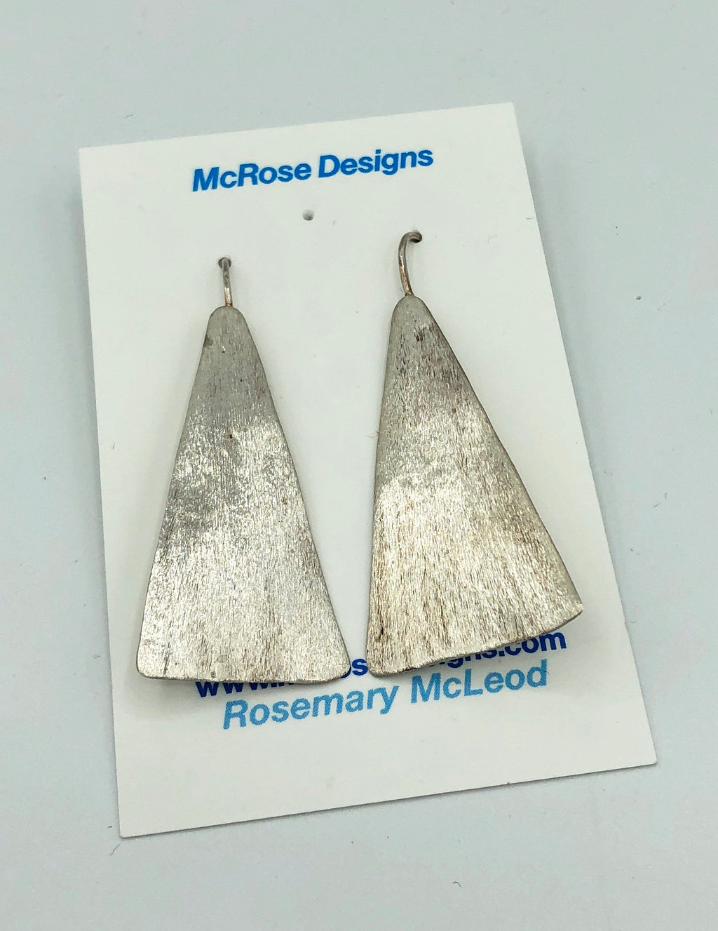 McRose Rm7 Sterling Triangle Earrings