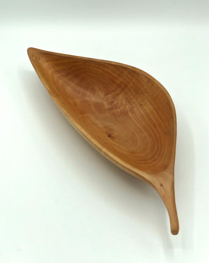 Don Talcott #154, Carved Leaf Bowl,  Bradford Pear