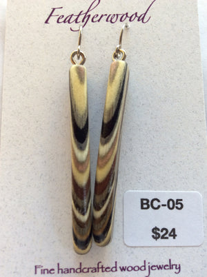 Featherwood earrings bc05