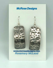 Load image into Gallery viewer, McRose Rm1 Argentium Silver Rectangle Earrings