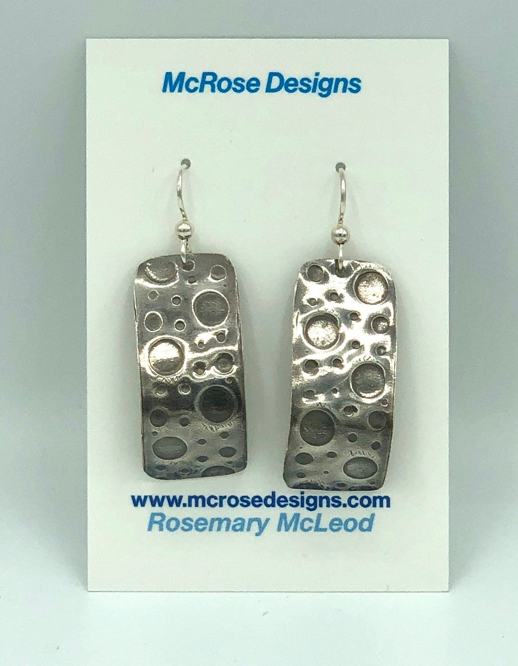 McRose Rm1 Argentium Silver Rectangle Earrings