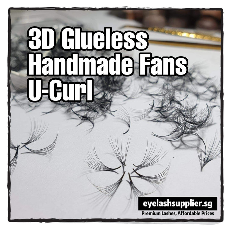 3D Glueless Handmade Fans U-Curl 0.07 - Eyelash Supplier Singapore