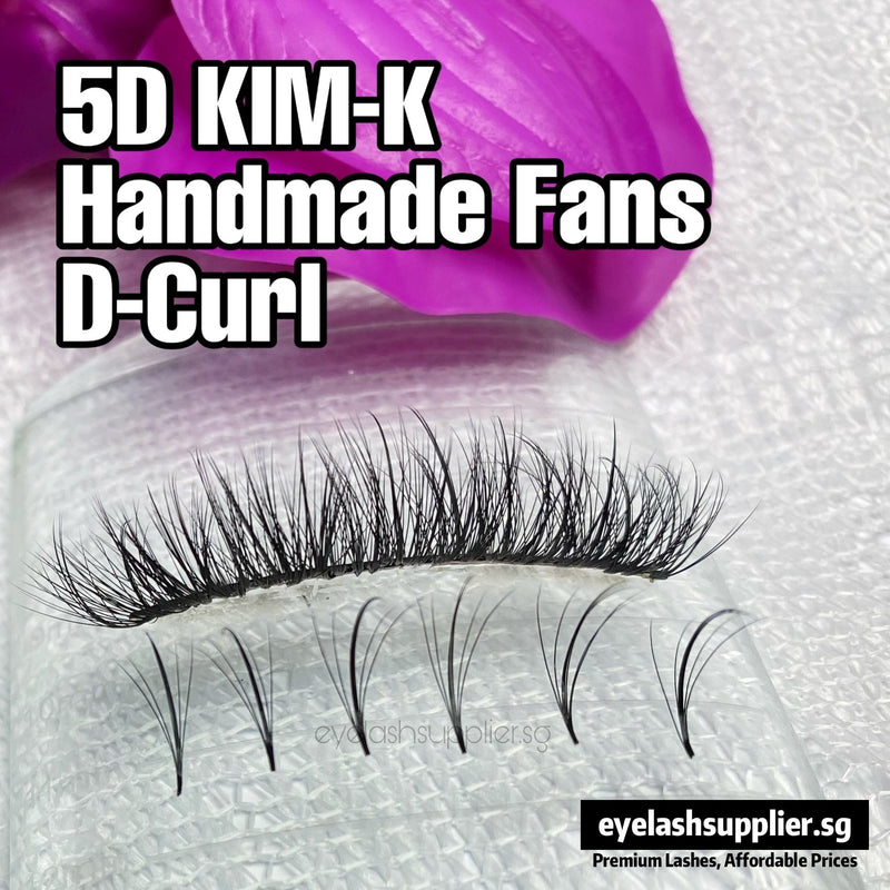 5D KIM-K Handmade Fans - Eyelash Supplier Singapore