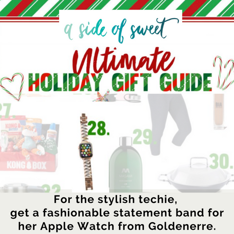 Holiday gift guide: apple watch band for the stylish techie