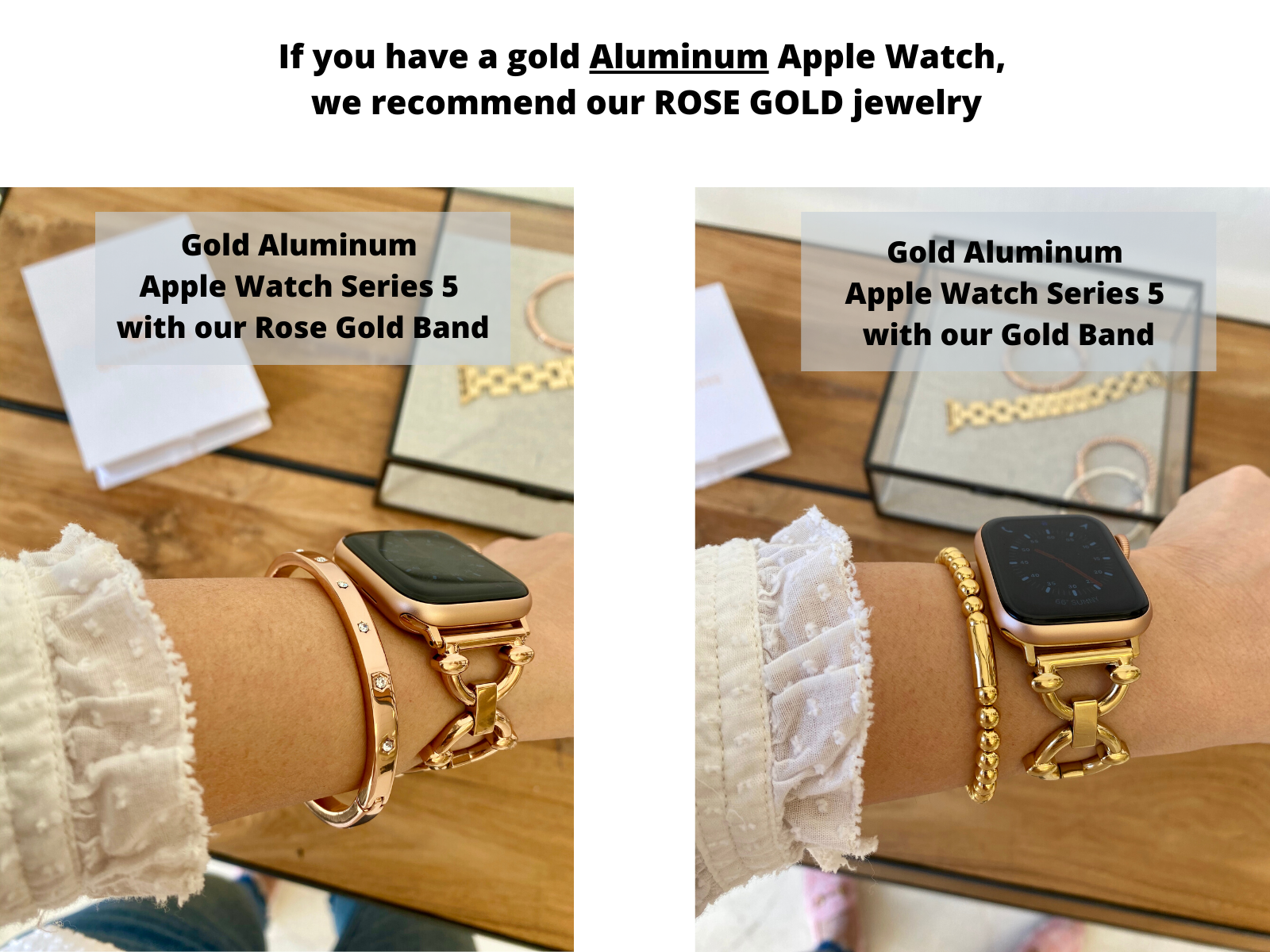 apple watch series 5 gold or rose gold band