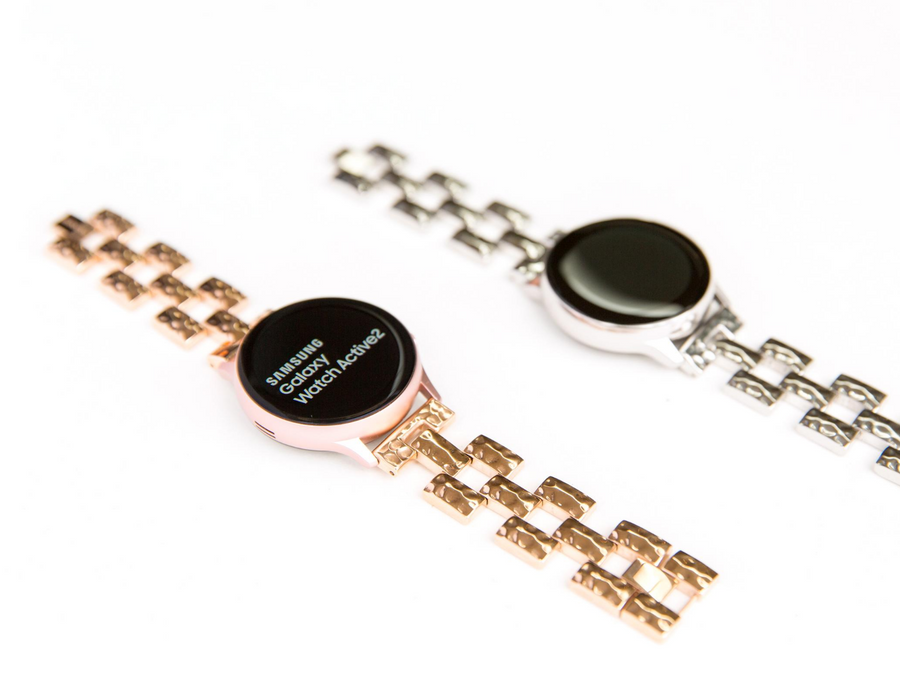 New! Hammered Link Bracelet for the Samsung or Garmin Smartwatch