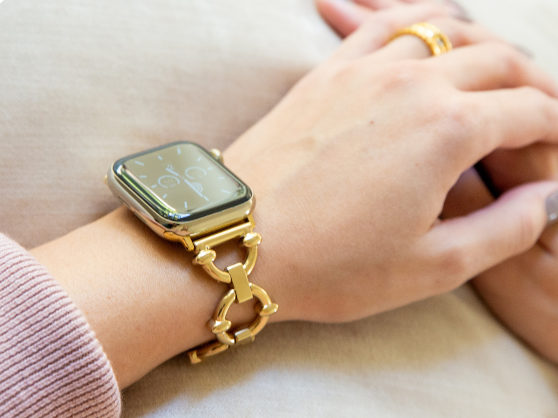 Classic Link Bracelet for the Apple Watch in Rose Gold, Gold, or Silver