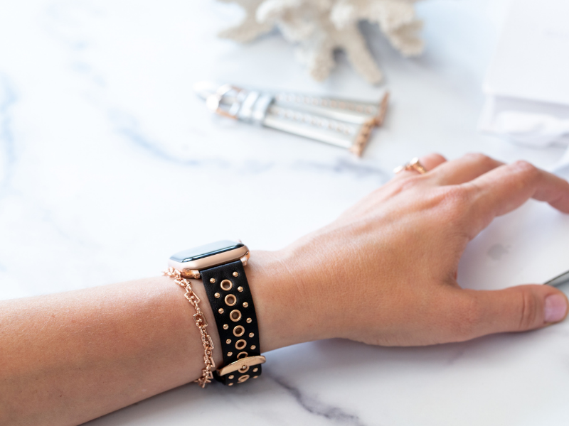 Grommet Stud Band for the Apple Watch in Rose Gold, Gold, or Silver