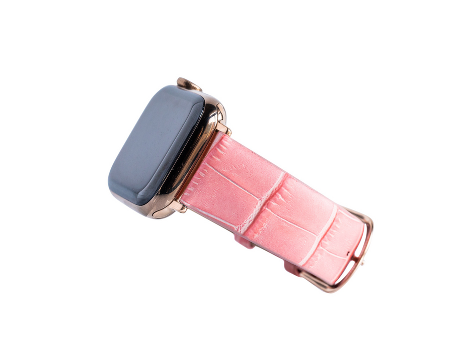Coral Croc Embossed Band for the Apple Watch
