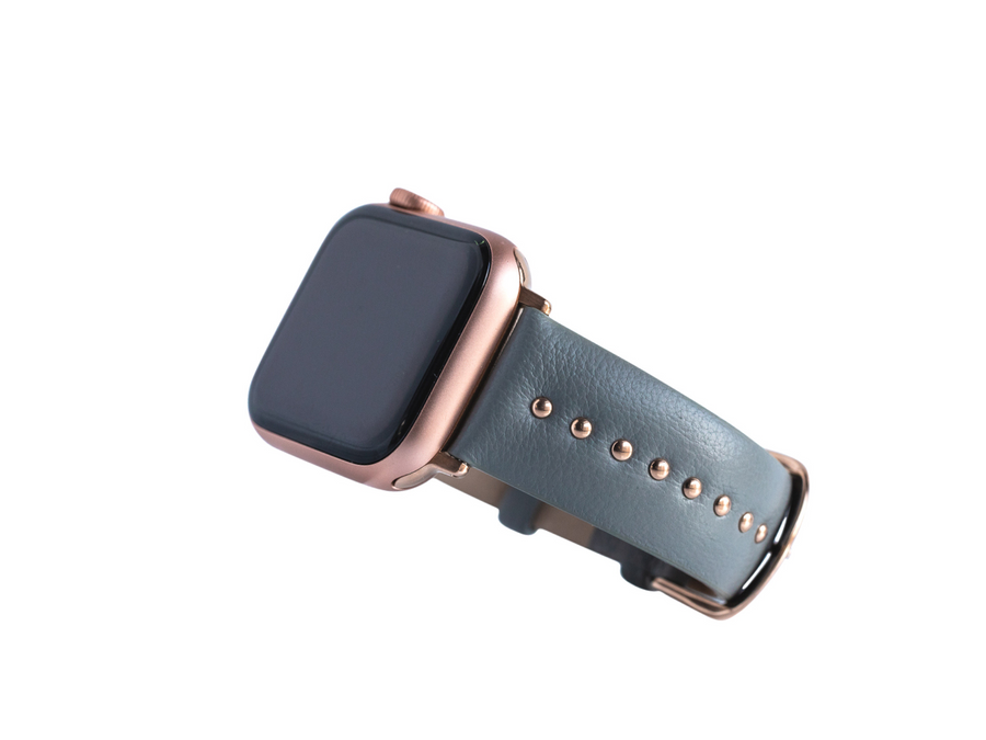 Gray Stud Band for the Apple Watch in Rose Gold