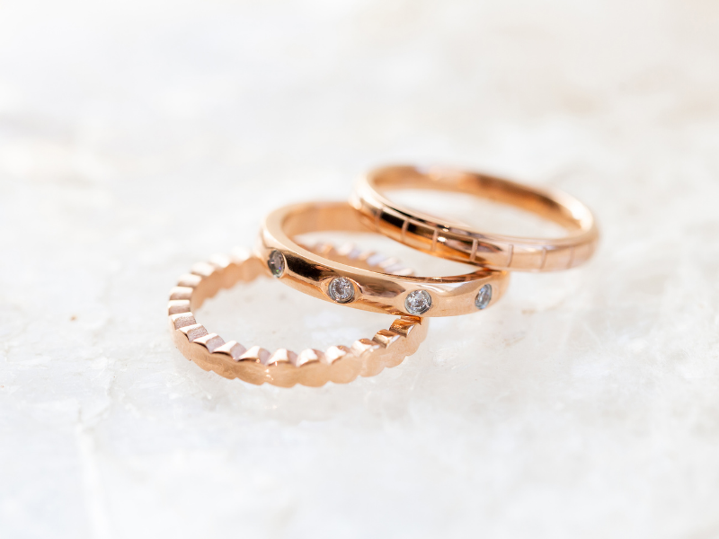 New! Rose Gold Stacking Rings